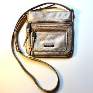 Calvin Klein crossbody metallic gold bag